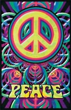PEACE SIGNS - BLACKLIGHT POSTER - 24X36 - 1873