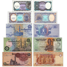 New listing 5pcs Unc Egypt Banknotes Pyramid Pharaoh Paper Money Collection Real Money