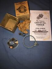 Model T Ford Crystal Glass Distributor Cap Ignition Timer NOS W - Box & Ad