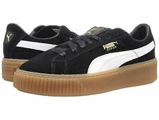 Women's Shoe PUMA Suede Platform Core Sneakers 363559-02 Black / White *New*