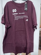 Adidas Mississippi State University Shirt Size 4XL