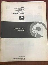 John Deere Operators Manual 82G & 83G Gasoline Trimmer/Edger #Omty20558 Used