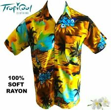 Unbranded Rayon Short Sleeve Casual Shirts for Men
