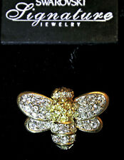 Swarovski Bee Brooch in Clear and Jonquil Rhinestones