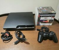 Sony PlayStation 3 Slim 160GB Console Mega Bundle 10 Games & Controller & Leads