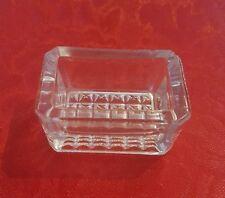Vintage ♢ Open Salt Cellar Dip Dish Bowl ♢ Rectangle ♢  Individual Clear Glass