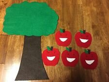 Way Up High In The Apple Tree 5 Apples Felt Flannel Board Story Fall Autumn