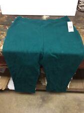 Kim Rogers Women's Running Jogging PANTS Emerald Green Cotton Spandex Size M NWT