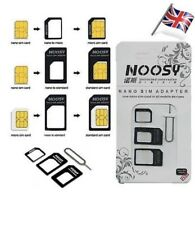 2X 4 IN 1 PACK NANO TO MICRO & STANDARD SIM CARD ADAPTOR FOR VARIOUS MOBILES UK