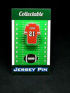 San Francisco 49ers Frank Gore jersey lapel pin-Classic team Collectible