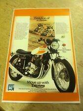 Vintage Triumph Trident Motorcycle Poster Advertisement Man Cave Art Christmas