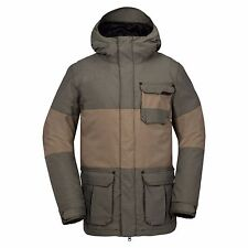 2017 NWT MENS VOLCOM CAPTAIN INSULATED SNOWBOARD JACKET $270 L vintage green