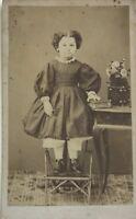 Ragazzina Da Baldwin Carte de visite CDV Francia Foto Vintage Albumina c1860