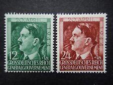 Alemania Nazi 1944 Sellos estampillada sin montar o nunca montada Polonia bajo ocupación alemana Adolf Hitler tercer R