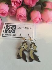Silvertone Chip and Dale (Chip Only) Standing Large Dangle Earrings