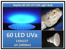 Indoor Snake Turtle Lizard Reptile 60 LED UV UVa Light Bulb 110V E27 USA  Cert