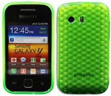 New Design Silicone Gel Diamond Case for Samsung Galaxy Y S5360 - Green