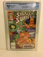 Silver Surfer #44 CBCS 9.0 Marvel 1st Infinity Gauntlet 1990 Thanos 🔑 Key Issue