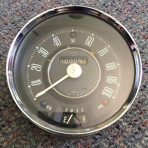 Vintage BMC Morris Mini Cooper 997 998 Speedometer 100mph