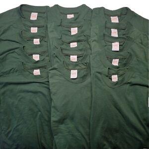 Vtg 80s 90s Deadstock NOS Blank T Shirt Lot Of 15 Sz Medium Green Single Stitch