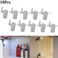 10pcs LED Cabinet Hinge Light Home Kitchen office Cupboard Closet Sensor Light