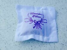 Small White Cotton Embroidered Lavender Pillow Pouch Filled With French Lavender