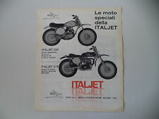 advertising Pubblicità 1969 MOTO ITALJET 100 CROSS/175 CROSS