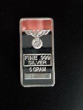 Silberbarren, 5 g, 999/1000, mit Adler und Eisernes Kreuz