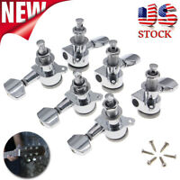 3L + 3R Guitar Locking Tuners Tuning Pegs Machine Heads For Electric Acoustic US