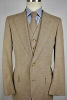 1960-70's Corbin Brown Wool Blend Two Button Three Piece Lounge Suit Size: 38R