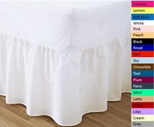 POLY COTTON VALANCE SHEETS FITTED WITH FRILL MULTIPLE COLOURS ALL SIZES