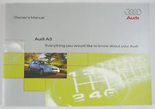 NEW GENUINE AUDI A3 MK1 8L OWNERS MANUAL HANDBOOK – 11/1998