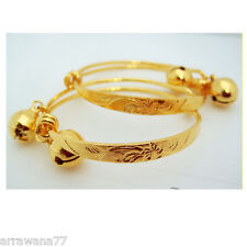 Flower 22K 23K Thai Baht Gold GP Baby Set Anklet Bell jewellery Jewelry