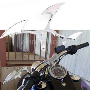 Motorcycle Chrome Spear Blade Mini Side Mirrors for Harley Davidson Sportster