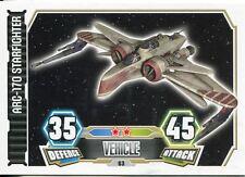 Star Wars Force Attax Series 3 Card #63 ARC-170 Starfighter