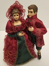 "Bradley Dolls music dancers waltzing to ""If you love me"" Figurines Vintage"