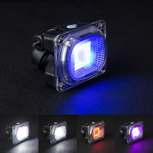 COB LED Bike Light Rechargeable Wide Bicycle Strobe Warning & Safety Night Lamp