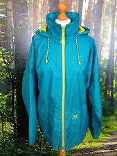 HELLY HANSEN 80'S UK S VINTAGE SAILING STYLE TURQUOISE BRIGHT YELLOW JACKET