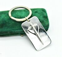 Vintage Sterling Silver key chain Concorde Links of London Plane Gift #N900