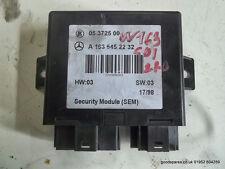 Mercedes ML 270 CDI W163 AUTO security module SEM A1635452232