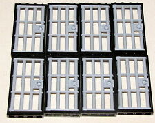 LEGO LOT OF 8 BLACK TOWN JAIL DOORS WITH BARS BARRED LIGHT GREY PIECES