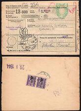STORIA POSTALE Occupazione tedesca LUBIANA 1944 Vaglia (primi giorni) (FSE)