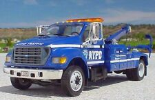 1st First Gear NYPD New York Police Traffic Tow Truck Wrecker Blue RARE MINT BOX