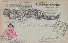 * NAPOLI - Gaetano Peluso - Stabilimento fabbrica di alcool in Poggioreale 1911