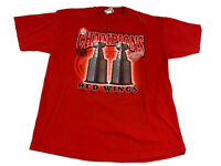1998 DETROIT RED WINGS Back to Back Stanley Cup Champions T Shirt XL Lee