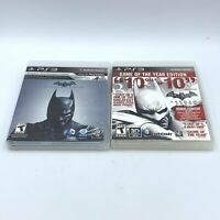 Batman: Arkham Origins & Arkham City Game Lot (Sony PlayStation 3 PS3)