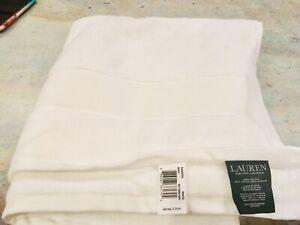 $72 New Set of Bath, Hand & Face Towel  Ralph Lauren Sanders White Cotton