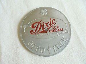 1951-52 UK Kentucky Wild Cats Basketball Dixie Ice Cream Good Luck Spinner Token