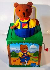 Vintage 1998 Schylling Bear Jack In The Box