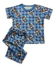 Happy Monkey Printed Pajama Set Boys Toddlers / Kids Sleepwear, M (4-5 yrs old)
